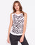 Sundry Muscle Tank in Zebra
