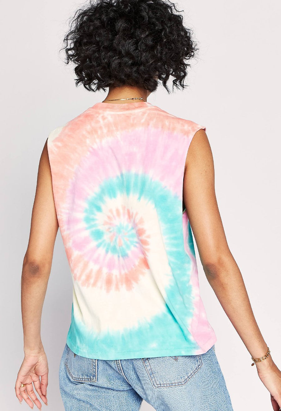 Daydreamer Tie Dye Rocker Muscle Tank