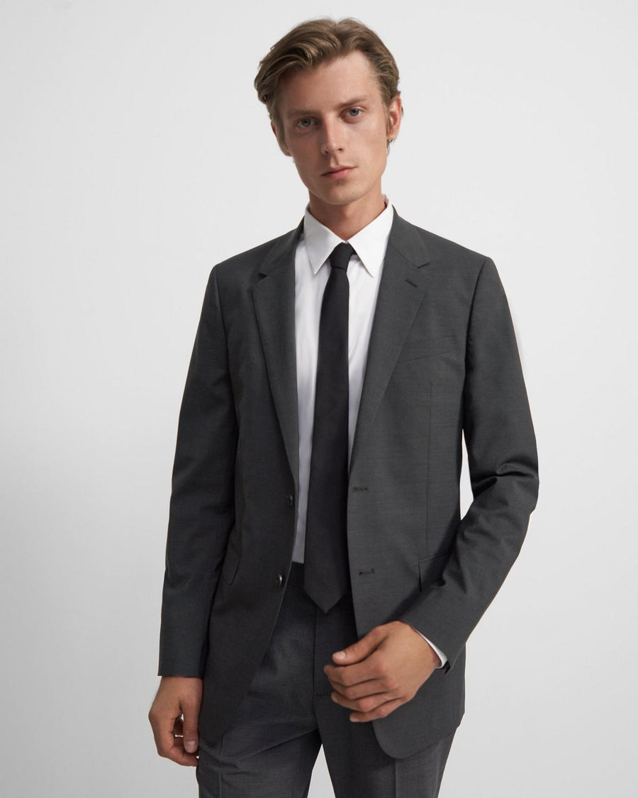 Theory Chambers Blazer in Good Wool, Charcoal
