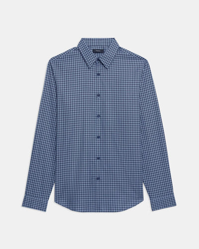 Theory Irving Shirt In Harbor Multi