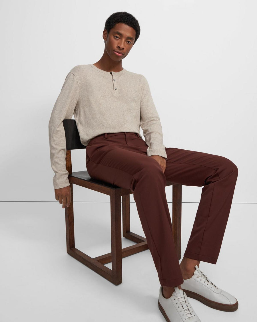 Theory Henley Shirt in Oatmeal