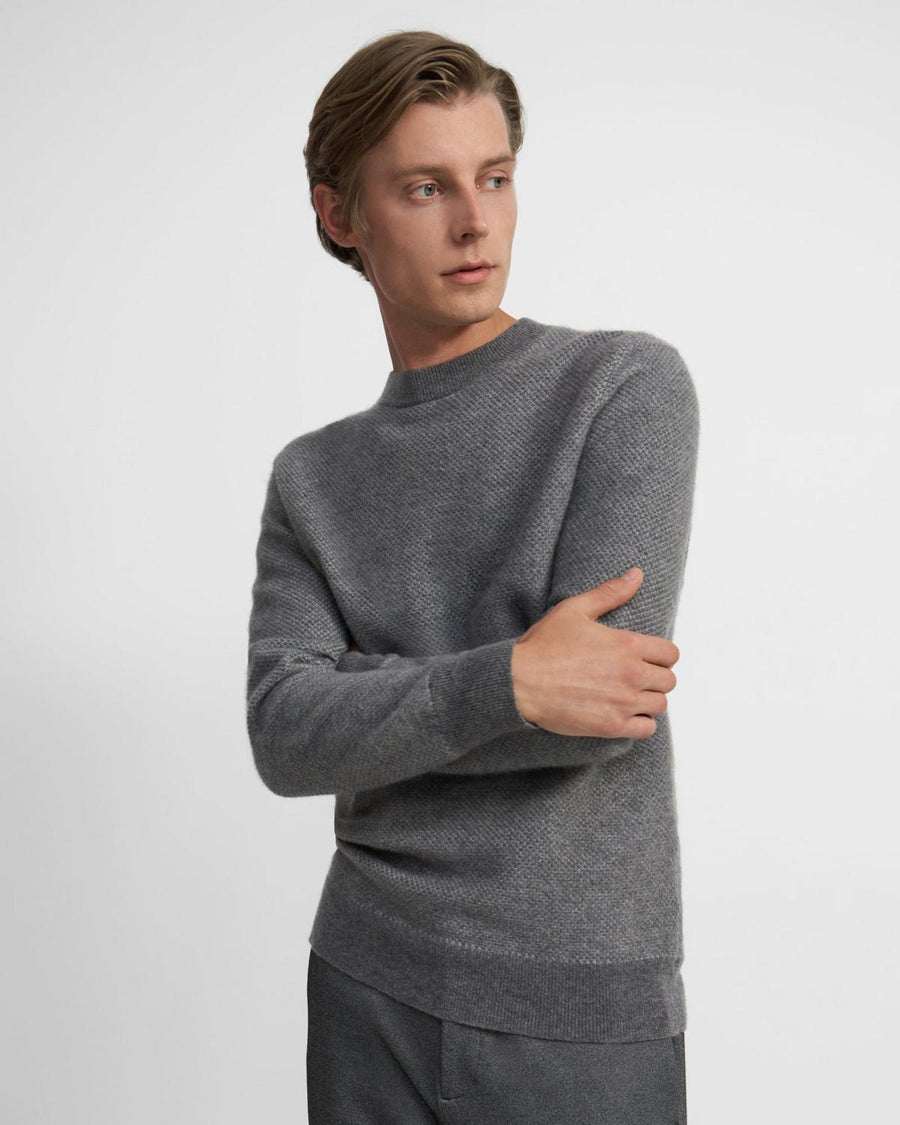 Theory Crewneck Sweater in Cashmere Jacquard