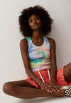 Daydreamers Prismatic Tie Dye Ribbed Tank
