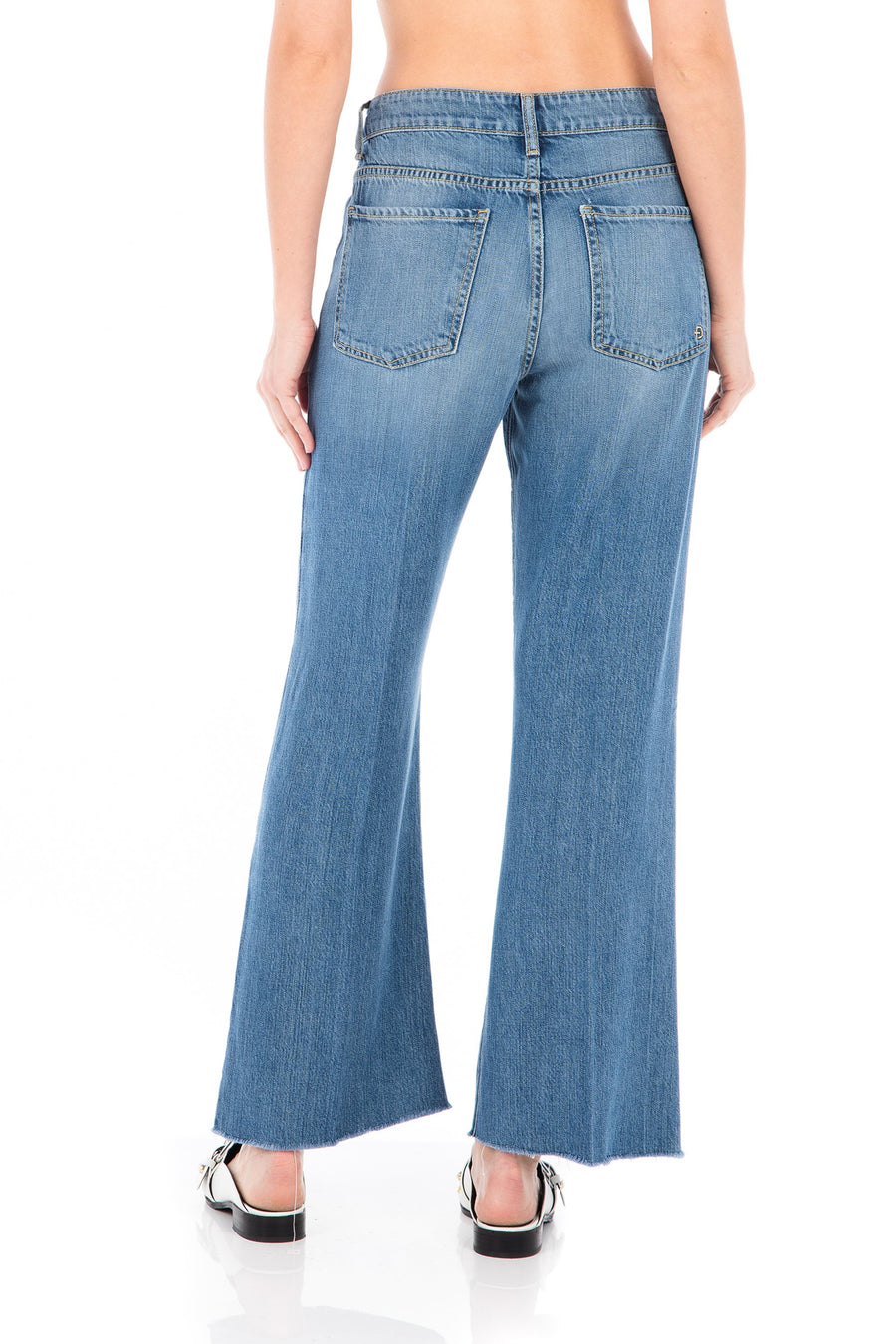 Fidelity Talia Denim in Harem Blue