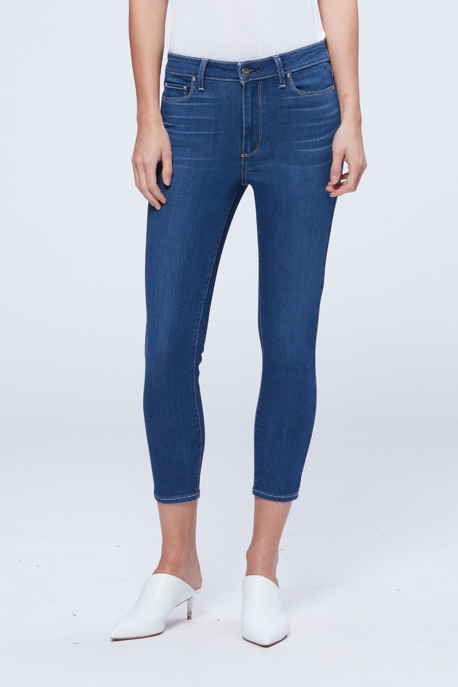 Paige Verdugo Crop Jeans in Cityscape