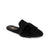 Yosi Samra Vixen Black Suede with Fur Slide