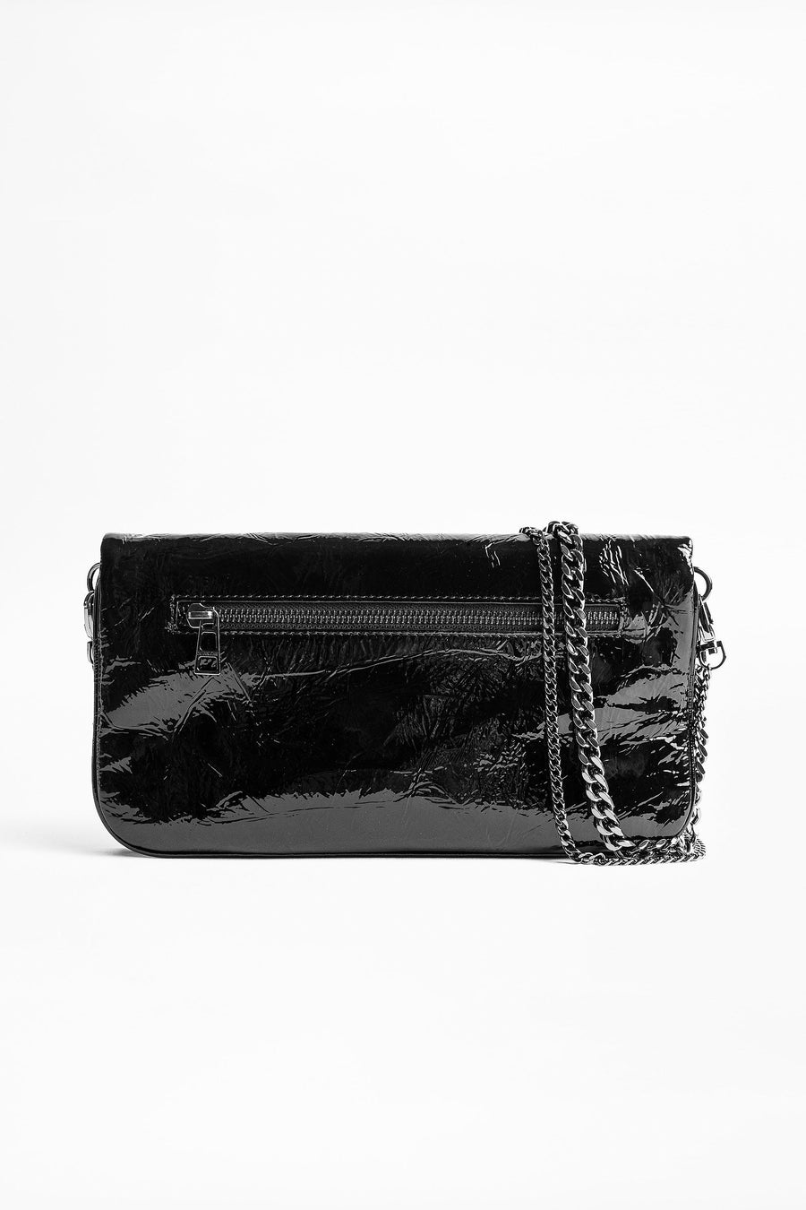 Zadig & Voltaire Rock Wrinkle Patent Clutch