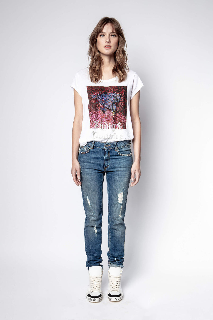 Zadig & Voltaire Antonia Tiger Strass T-Shirt