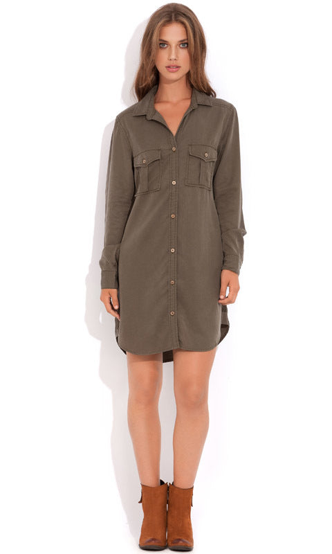 Wish Officer Shirt Dress