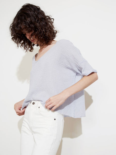 Nation LTD Athena Boxy Top in Slate