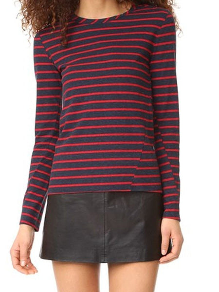 Pam & Gela Lace-up Boatneck Top