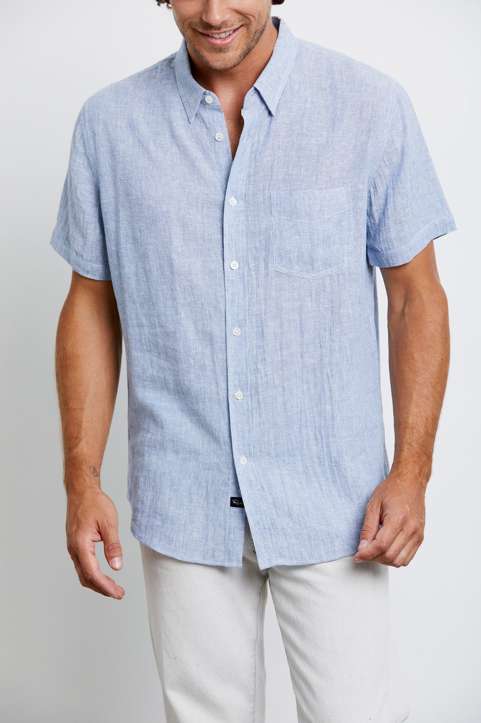 Rails Carson Shirt in Washed Blue