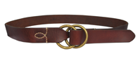 "De Palma Denys 1/2"" Belt in Tobacco Mix"