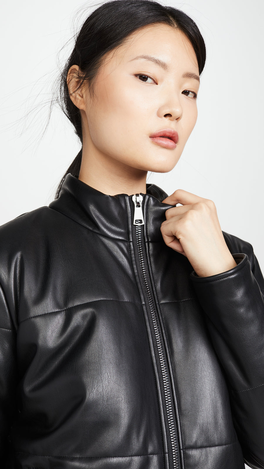 David Lerner Bella Vegan Crop Puffer