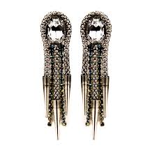 Nicole Romano Lance Earrings in Silver