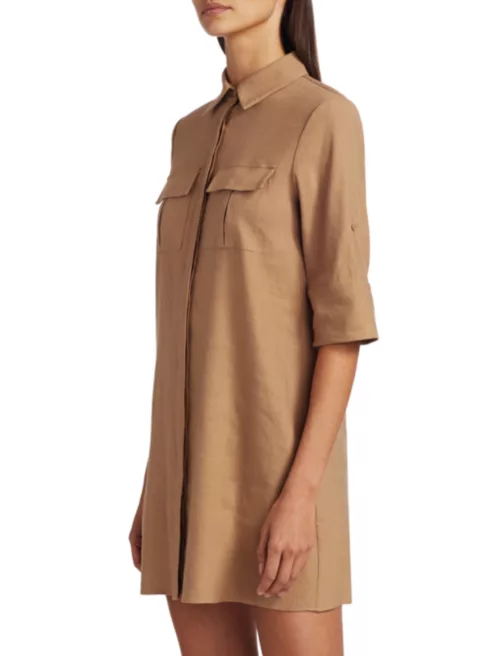 Alice and Olivia Kiera Dress in Tan