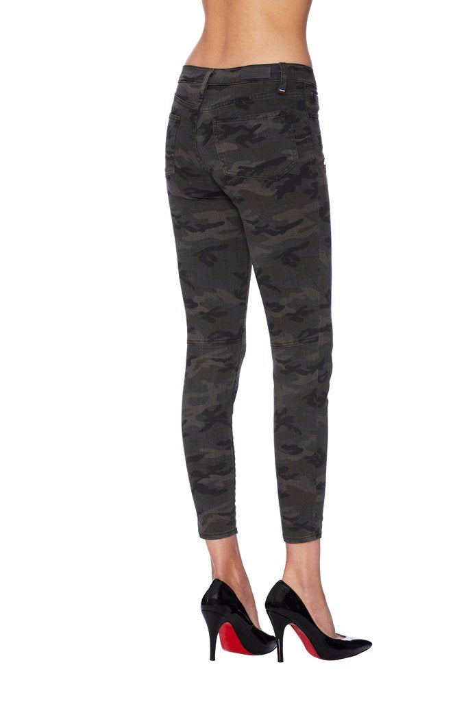 Etienne Marcel Camo Pants with Red Zipper