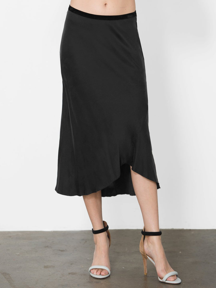 Go Silk Bias Skirt in Black