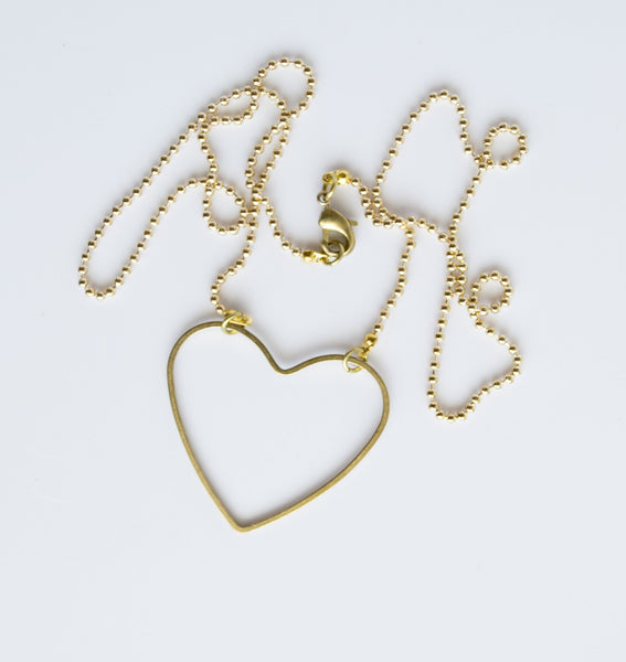 GT Mill Simple Heart Necklace
