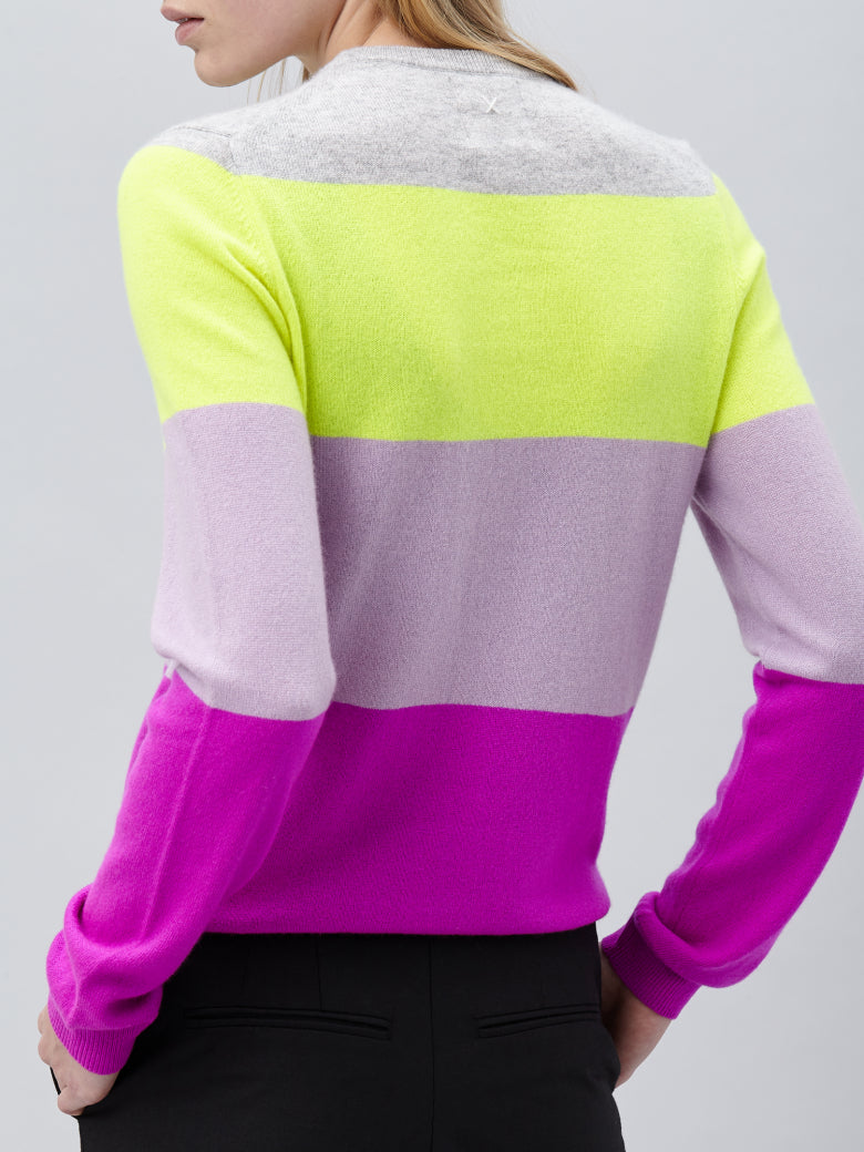 People's Republic of Cashmere Color Block Sweater