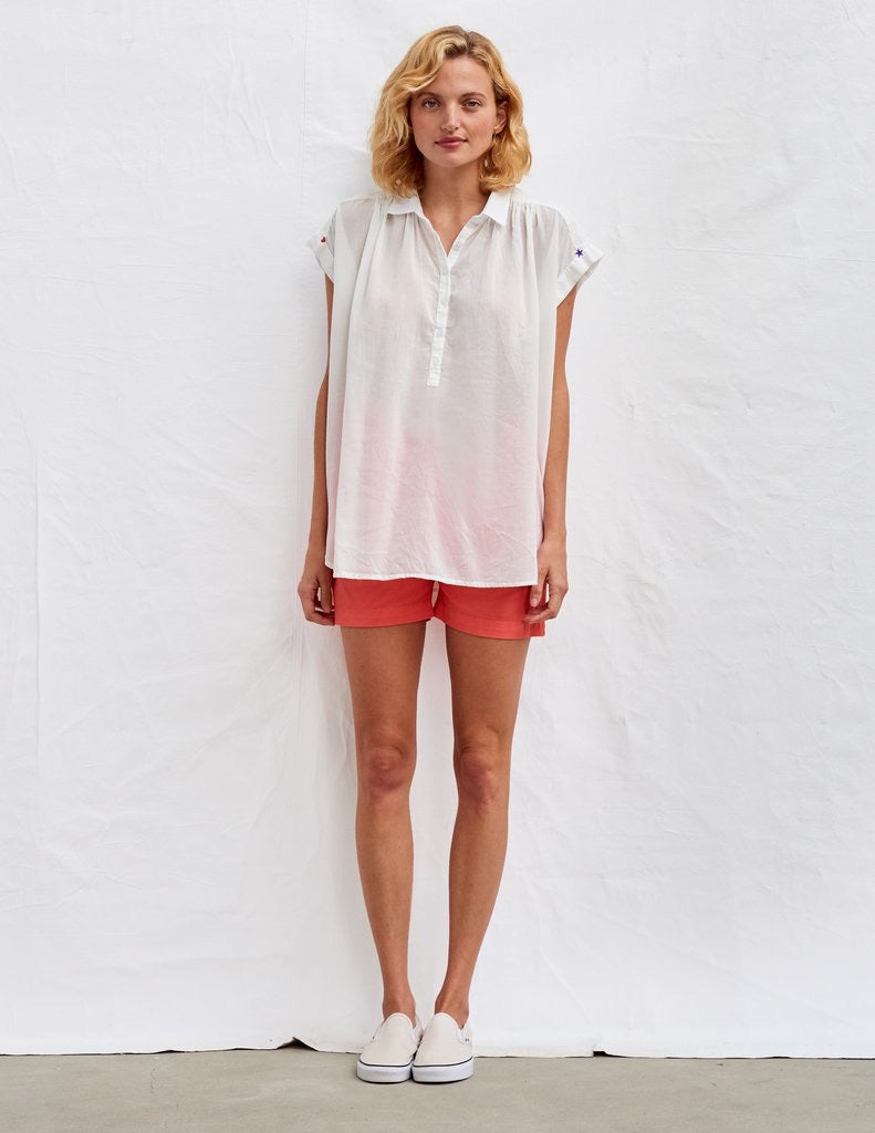 Sundry Star and Heart Short Sleeve Shirt
