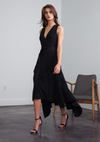 Karina Grimaldi Bethany Solid Black Dress