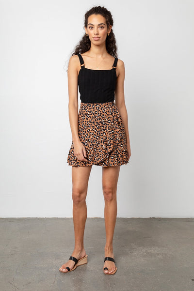 Rails Maci Skirt in Golden Leopard