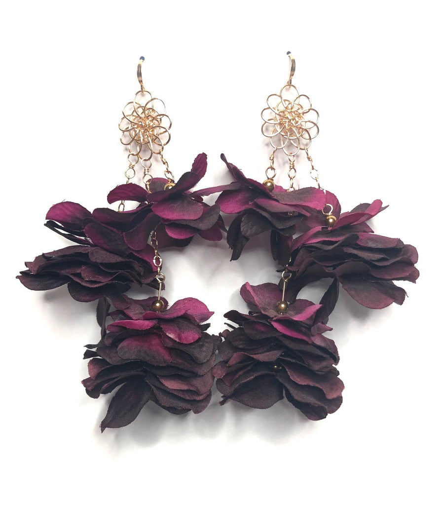 Cassandra Collections Double Floral Earrings