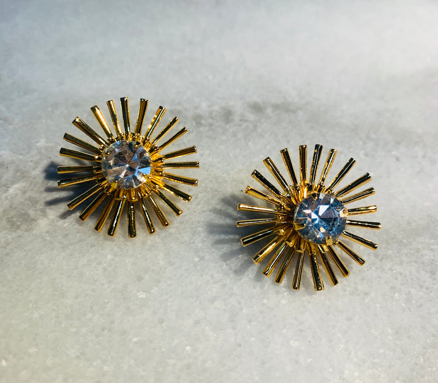 Nicole Romano Nirvana Burst Stud in Gold