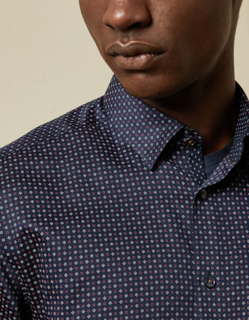 Ted Baker Cotton Geo Print Shirt