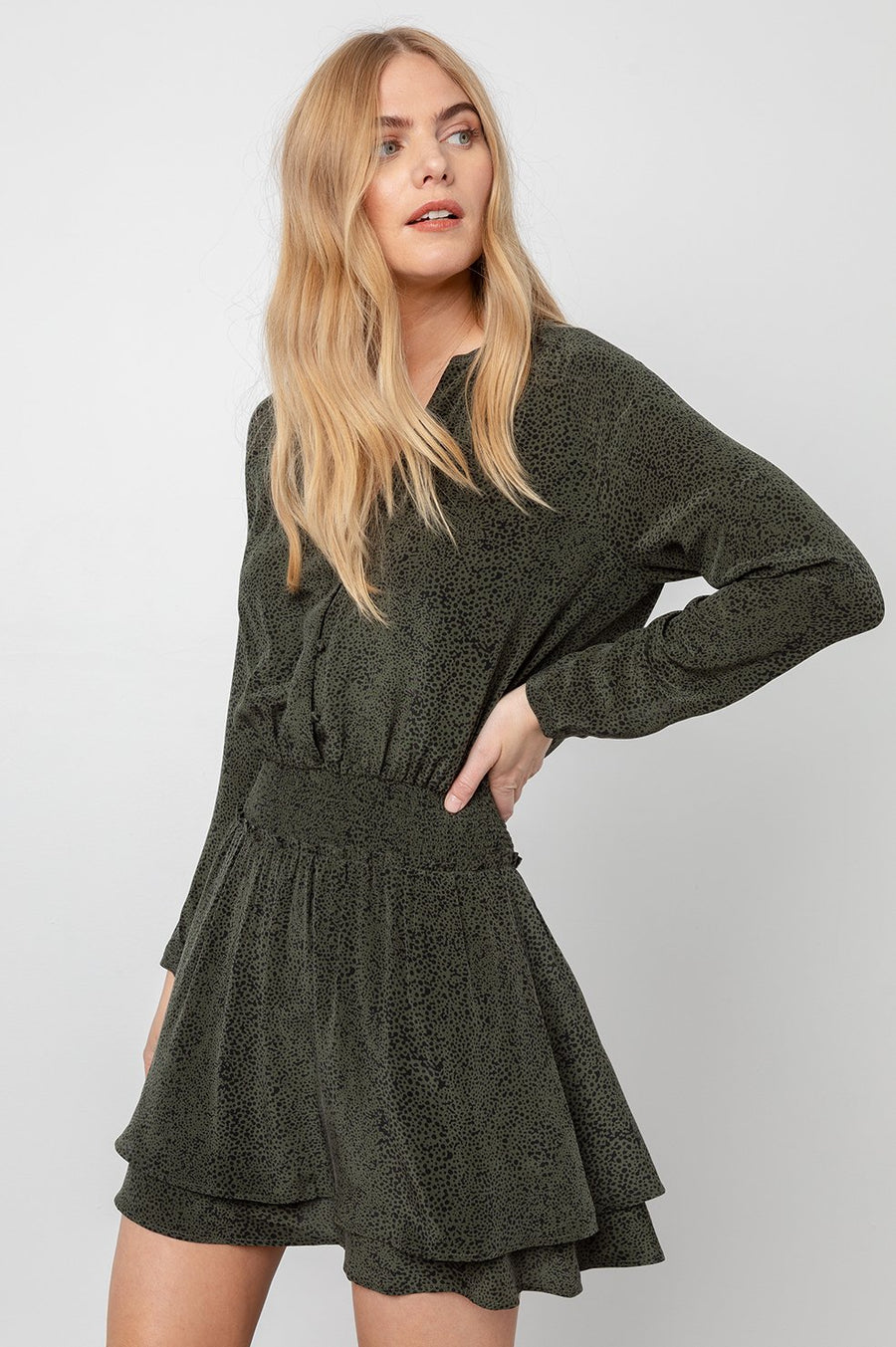 Rails Jasmine Dress Olive Speckled
