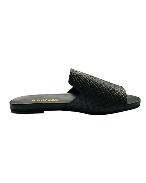 Kaanas Leticia Snake Slide in Black