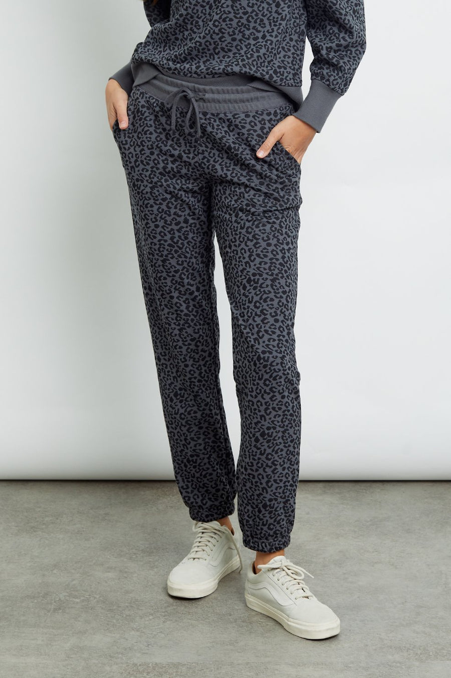 Rails Kingston Pant in Charcoal Mini Cheetah