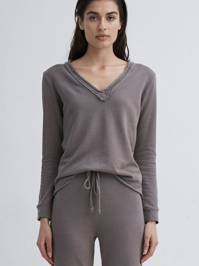 Lanston Raw Edge Pullover