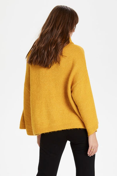 Soaked Vivian Rolled Sweater in Yellow