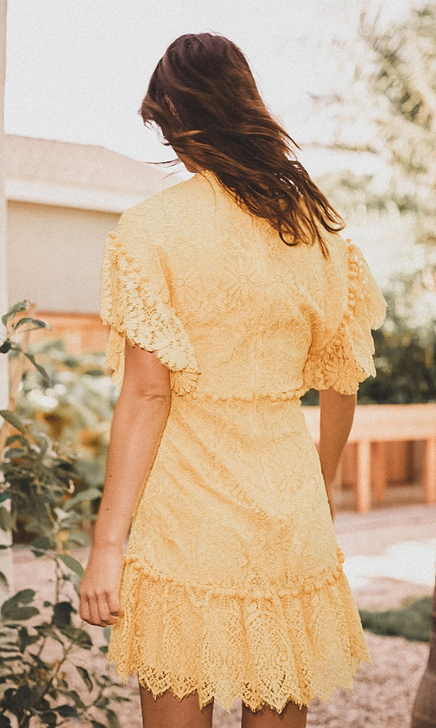 Saylor Nanatte Mini Dress in Yellow
