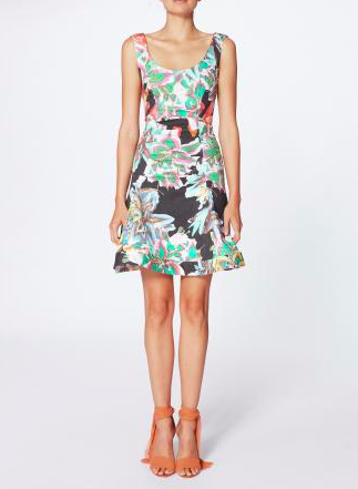 Nicole Miller Technicolor Fit and Flare Dress