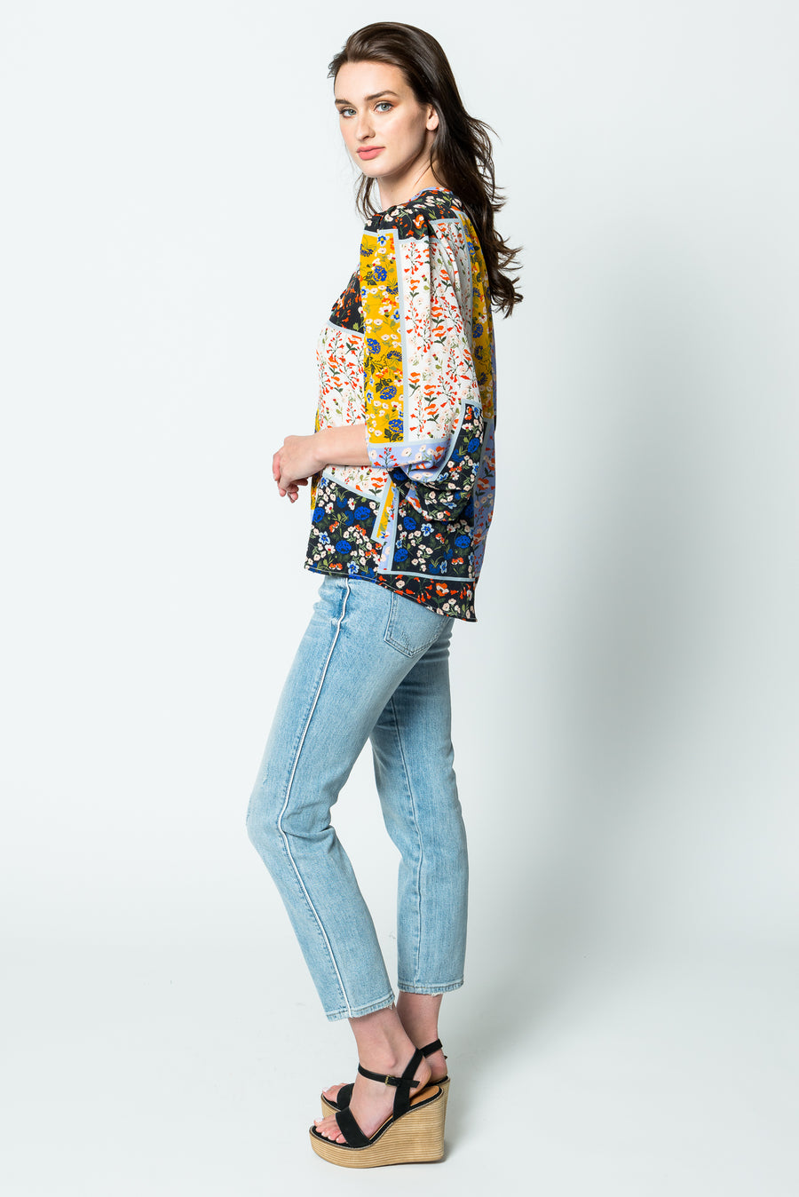 Hunter Bell Finley Blouse in Wildflower Patchwork