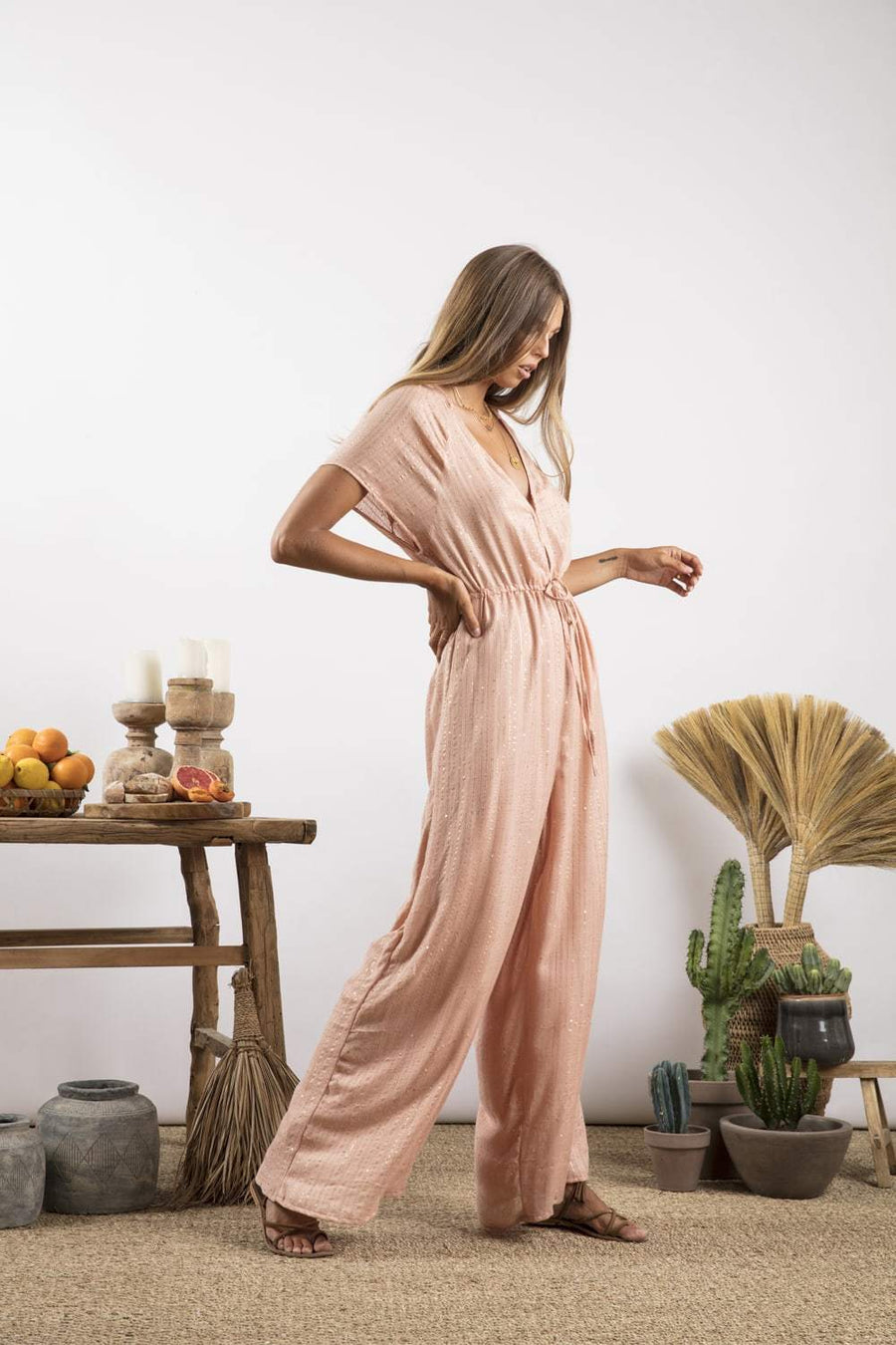 Sundress Pam Jumpsuit in Roma Tan