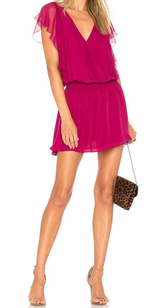 Parker Gabriella Combo Dress in Beetroot