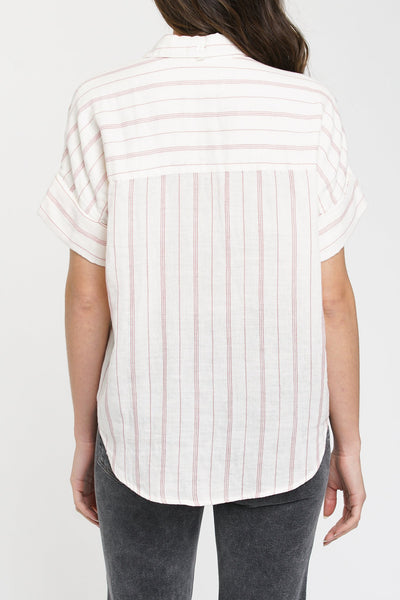 Pistola Avery Cuffed Short Sleeve Top