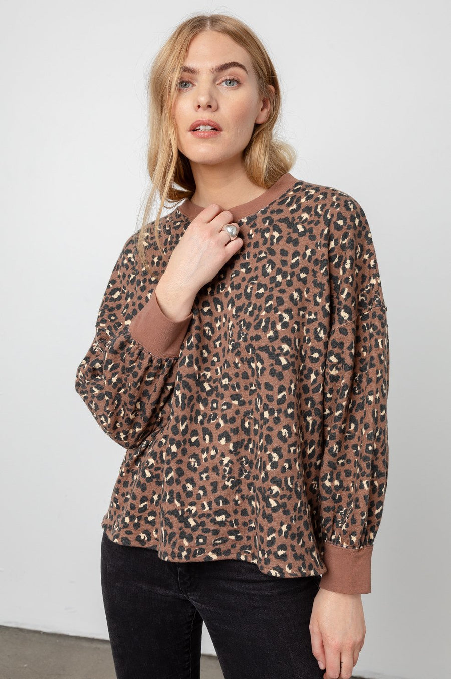 Rails Reeves Sweatshirt in Mountain Leopard