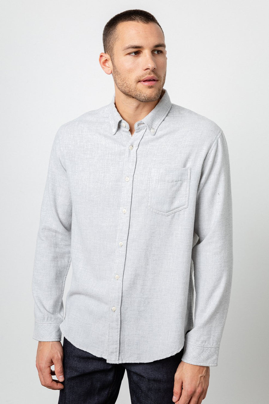 Rails Runson Shirt in Heather Grey