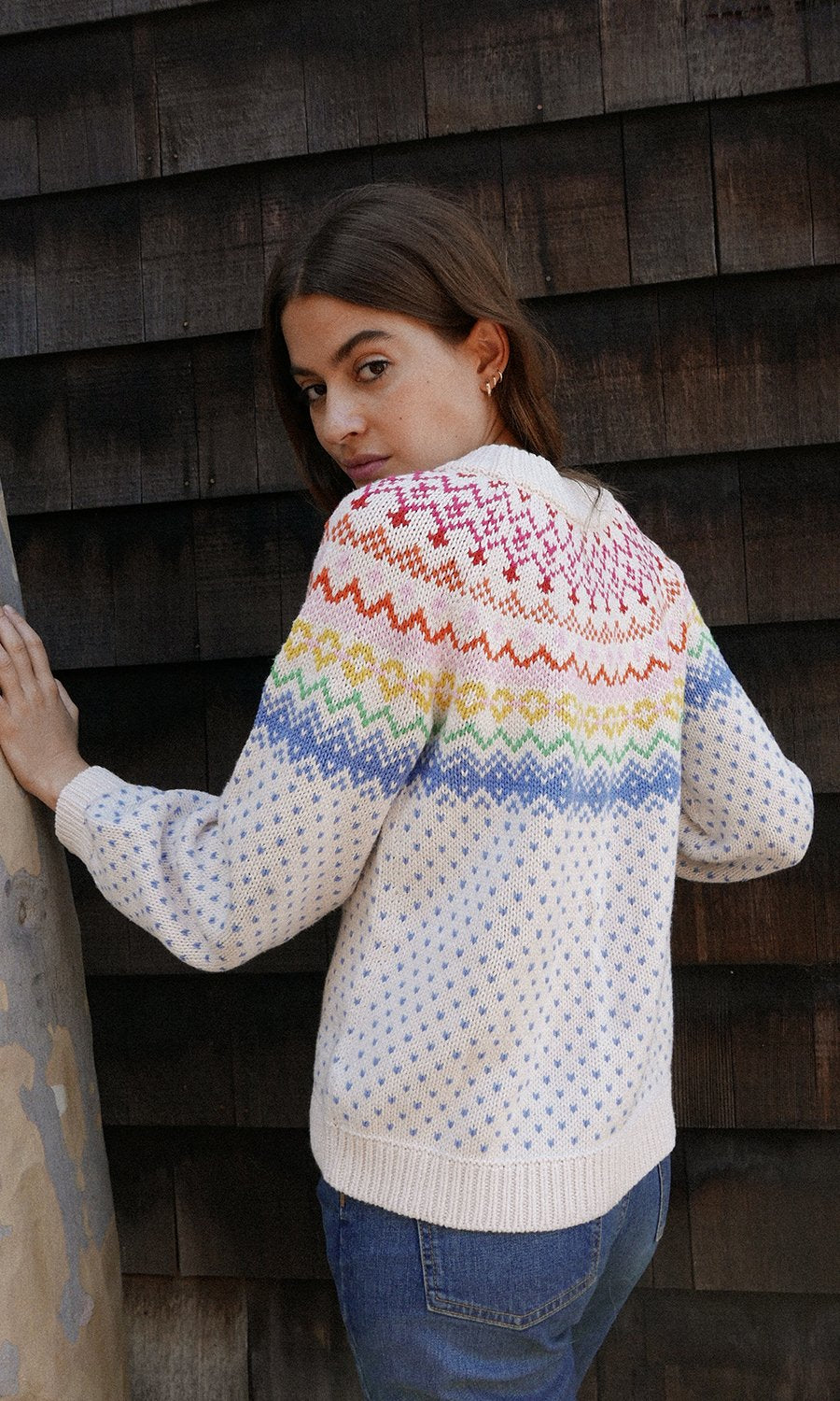 Saylor Salem Rainbow Fair Isle Sweater