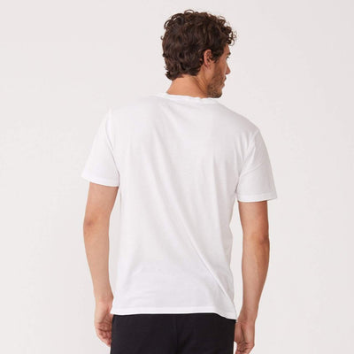 Monrow Crew Neck Tee in White