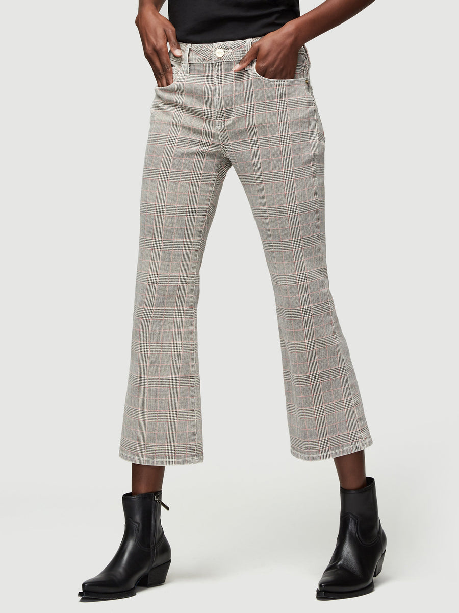 Frame Le Cropped Mini Boot Plaid