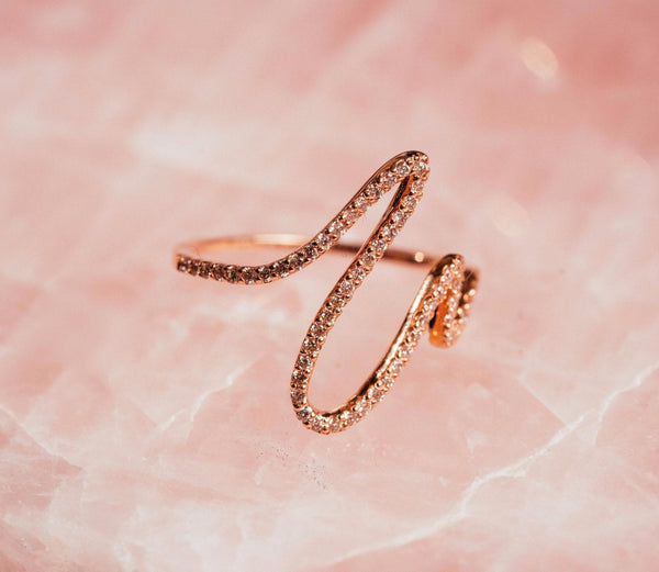 Mizana Collections Rose Gold Rhythm Ring