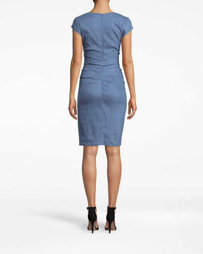Nicole Miller Cap Sleeve Dress in Vintage Denim