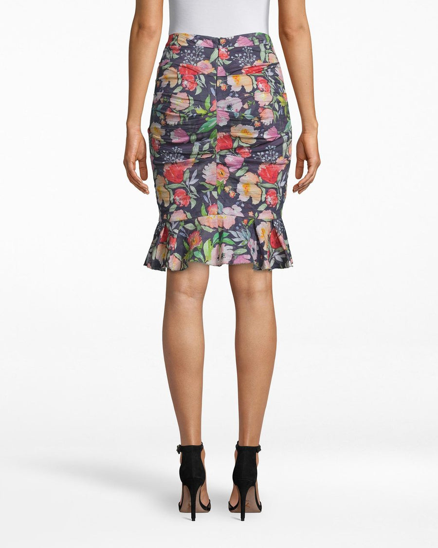 Nicole Miller Floral Ruffle Skirt