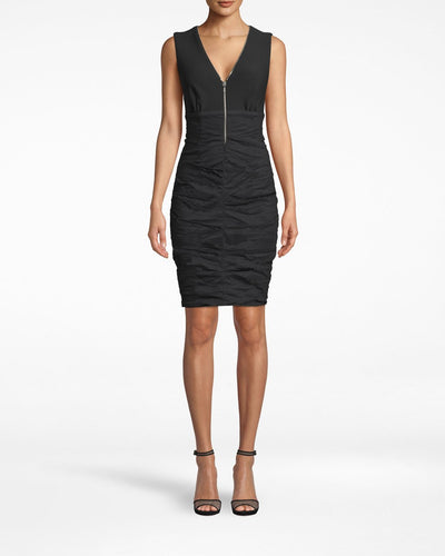 Nicole Miller Zipper Dress in Black
